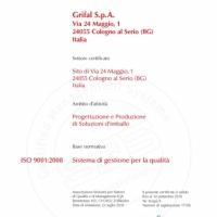 Certificato Qualità ISO 9001 2016