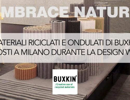 I materiali ondulati naturali e riciclati di Buxkin