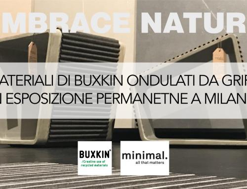 I materiali di Buxkin ondulati da Grifal in esposizione permanente a Milano