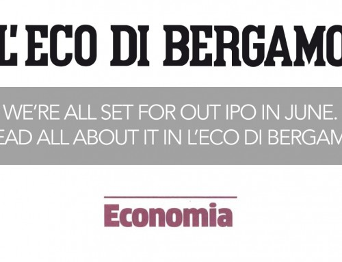 We're all set for our IPO in June [L'Eco di Bergamo]