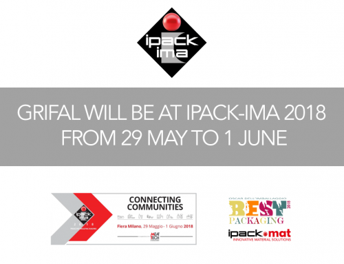 Grifal will be at IPACK-IMA 2018 from 29 May to 1 June