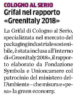 greenitaly gritti symbola grifal eco di bergamo