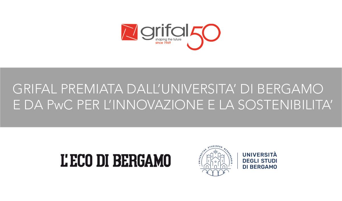 Grifal premiata dall'Università di Bergamo e da PwC per l'innovazione, l'ecosostenibilità e l'imprenditorialità