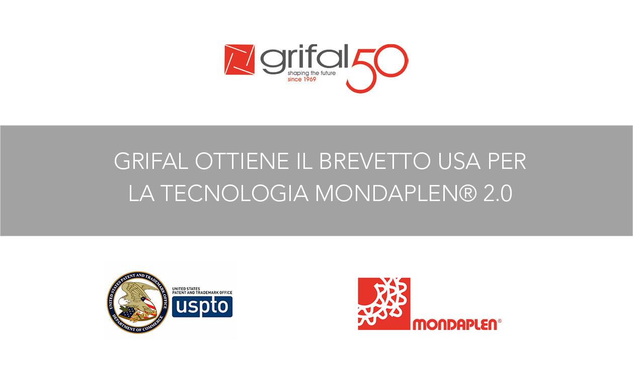 L'Ufficio Brevetti USA ha comunicato a Grifal la concessione del brevetto nella versione 2.0 della tecnologia Mondaplen®