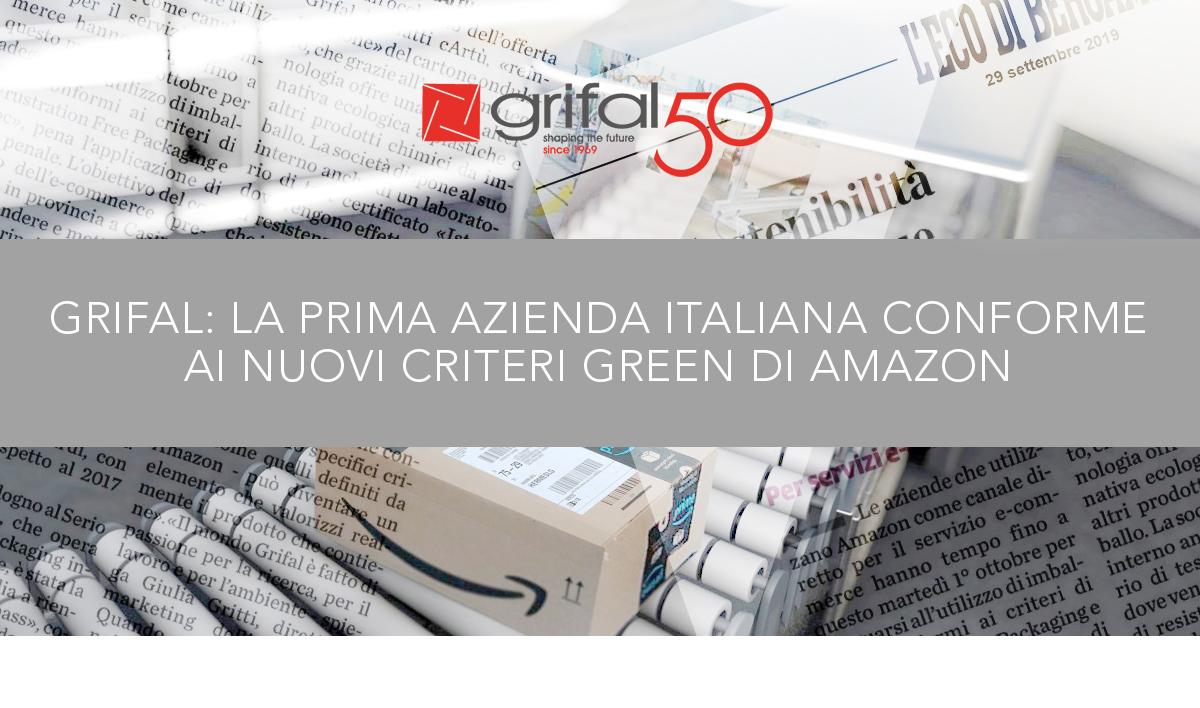 Grifal per l'e-commerce: protezione garantita anche dai nuovi criteri green di Amazon