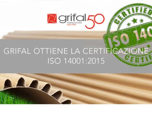 Grifal ottiene la certificazione ISO 14001:2015